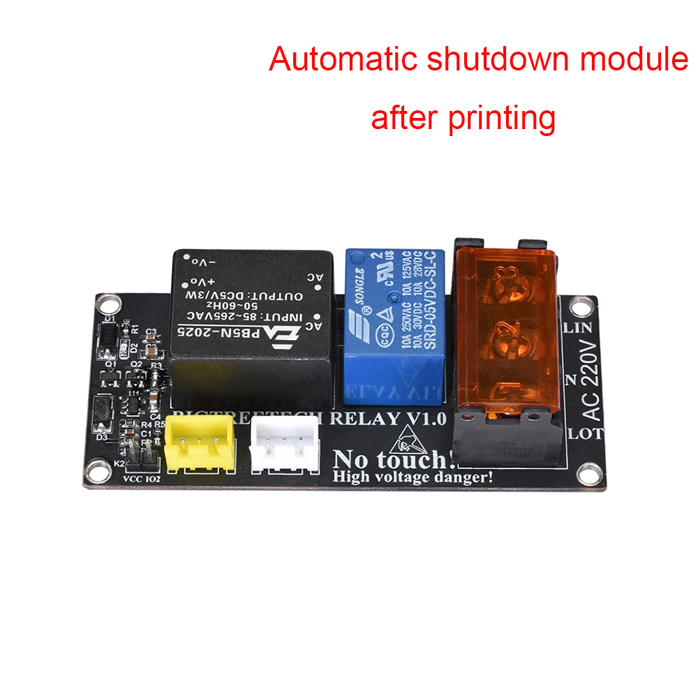 Bigtreetech Relay V1.0 Module Automatic Shutdown Module After Printing To BIQU Thunder For CR10 Printer Reprap 3D Printer Parts