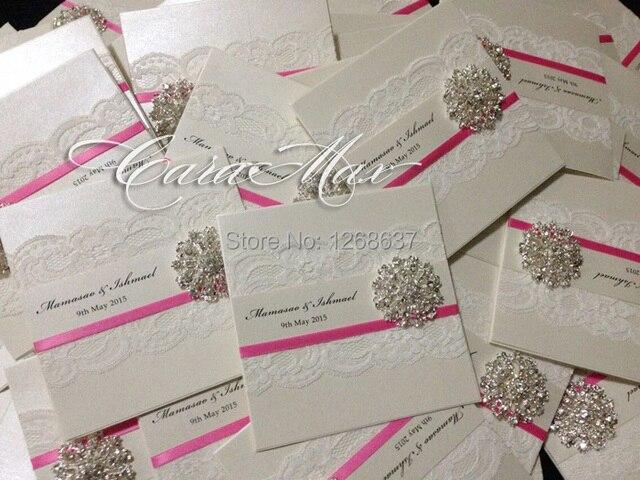 Aliexpress Buy CA0680 Elegant Lace Wedding Invitations with – Elegant Lace Wedding Invitations
