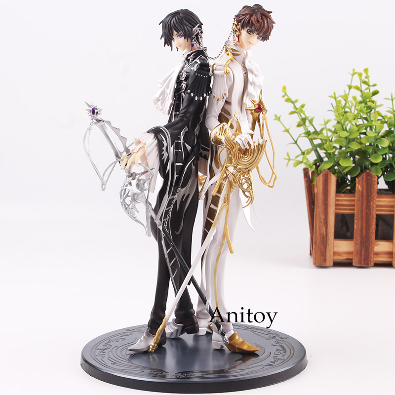 Action Figure Code Geass Lelouch Lamperouge / Suzaku Kururugi PVC Clamp Works in Code Geass Lelouch & Suzaku Collection Toys 24cm kururu suzaku code geass lelouch of the rebellion action figure pvc collection model toys brinquedos for christmas gift