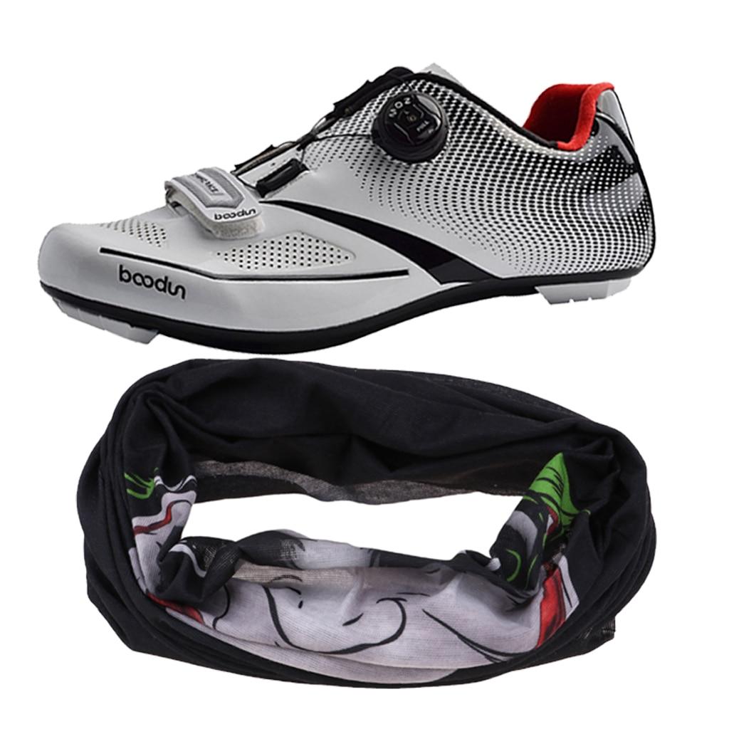 Perfeclan chaussures de cyclisme sur route hommes cyclisme chaussures de sport baskets avec un masque facial gratuit bandeau bandeau