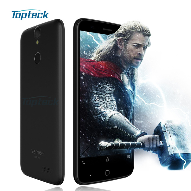 """Vernee Thor 4G Fingerprint ID Mobile Phone Android 6.0 MTK6753 Octa Core 3GB+16GB Cellphone 13MP 5"""" OTG Quick Charge Smartphone"""
