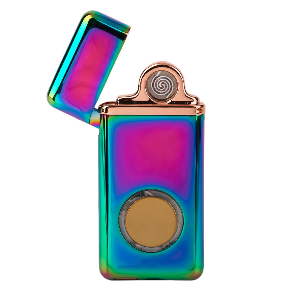 OUTAD Creative USB Rechargeable Flameless Electric Double Arc Windproof Cigarette Lighter Metal Flameless Torch Rechargeable
