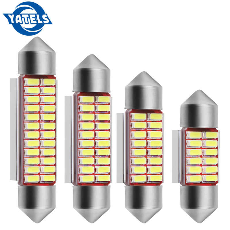 31mm 36mm 39mm 42mm C5W C10W 4014 SMD LED CANBUS NO ERROR Auto Festoon Lamp Interior Dome Lights Car Map Roof Reading Bulb White