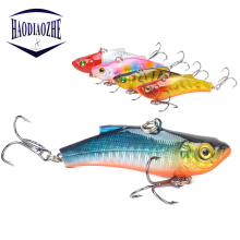 Купить с кэшбэком HAODIAOZHE VIB Fishing Lure Spoon Sinking Bait Isca Wobblers 7cm 18g Artificial Crankbait Lures Quality Hook Fishing Pesca YU492