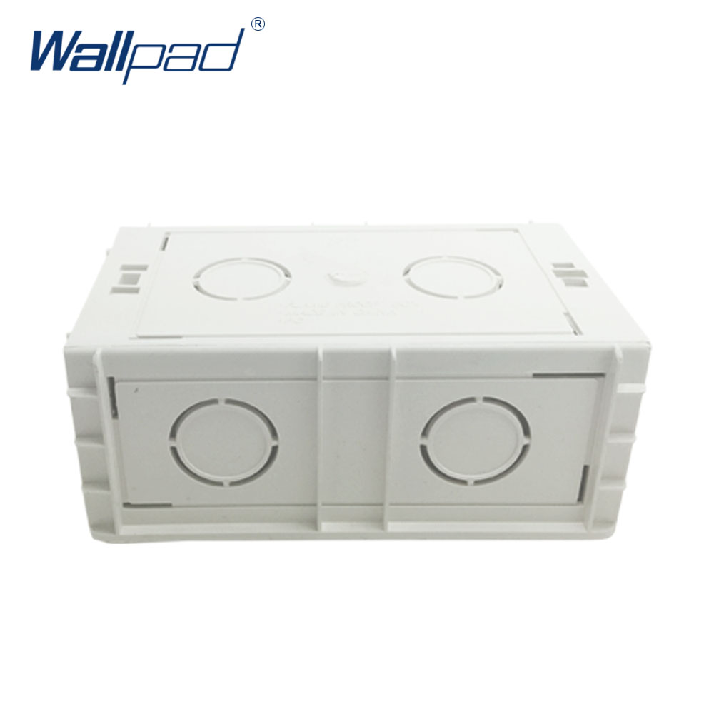 Mounting Box For 146*86mm Wall Switch And Socket Wallpad Cassette Universal White Wall Back Junction Box