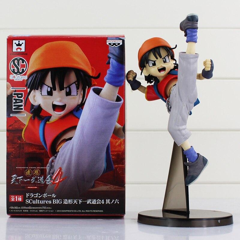 Jaunā ierašanās Banpresto SCULTURE Dragon Ball Z Pan PVC darbības attēls 20CM kolekcionējams rotaļlietu bezmaksas piegāde