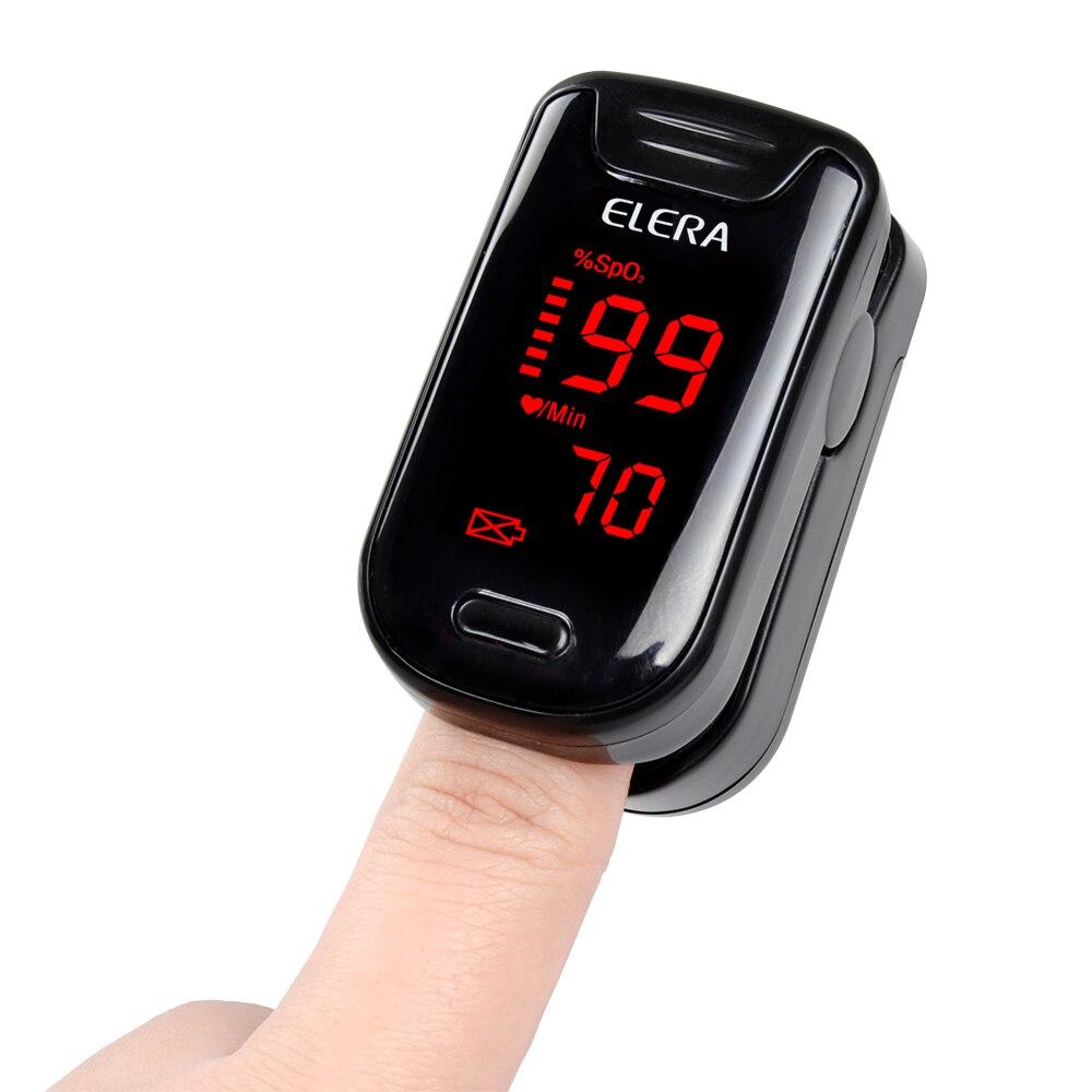Image 2 - ELERA Digital Oximetro De Dedo With Case Pulse Oximeter Blood Saturometro Monitor SPO2 PR Oximetro De Pulso Pulsioximetrooximetro de dedooximetro de pulsooximetro digital de dedo -