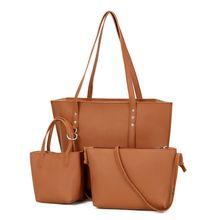 цена на High Quality PU Leather Women Handbag Shoulder Bag Tote Purse Messenger Satchel Clutch Luxury Handbags Bags Set for Women