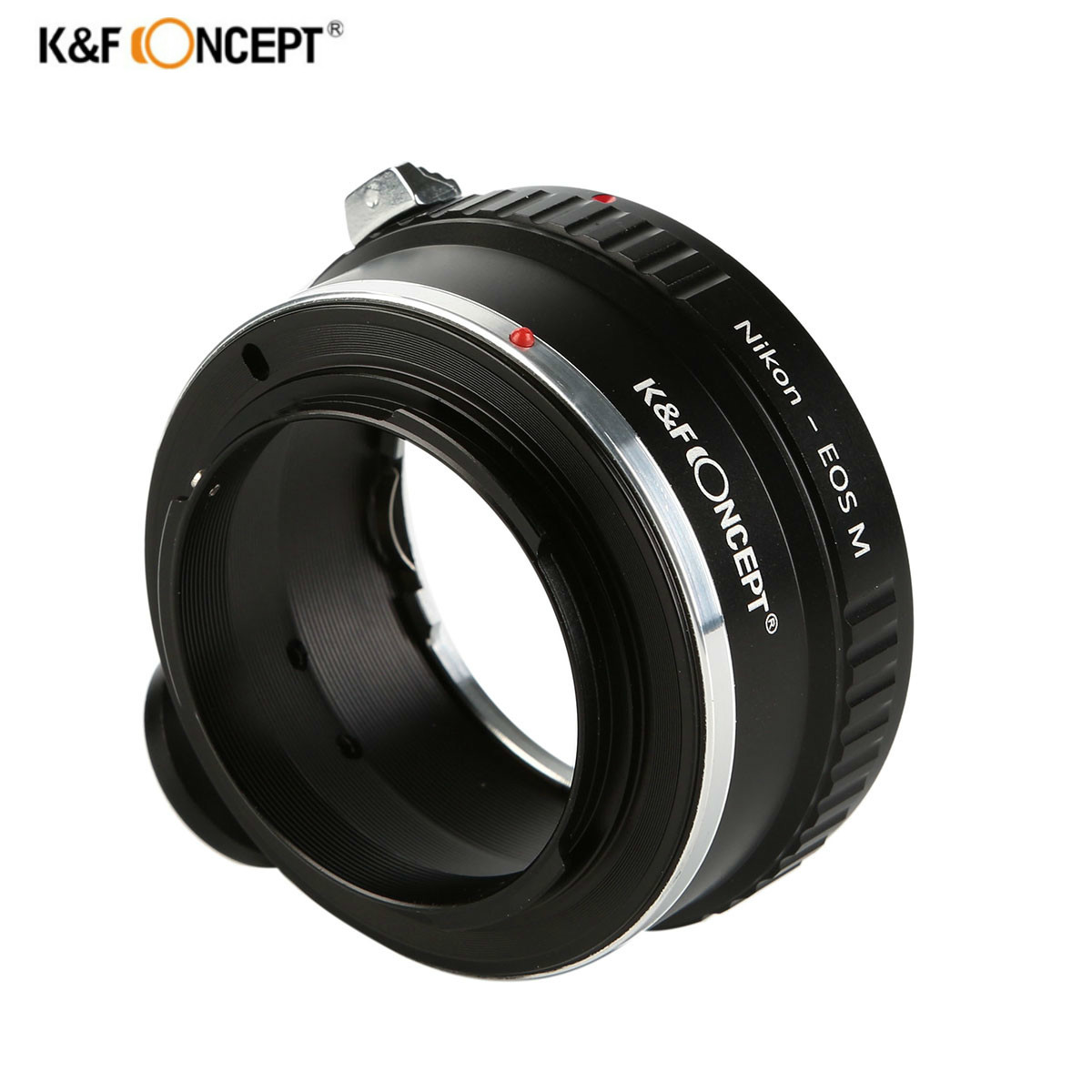 K&F Concept Lens Adapter Ring with Tripod for Nikon AI AI S F Lens to Canon EOS M Mirrorless
