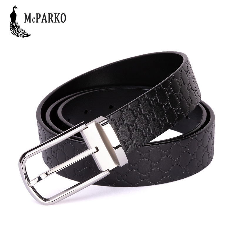 Luxury Brand Leather Belt Men Fashion Stainless Steel Buckle Belt Genuine Leather CC Design Formal Male