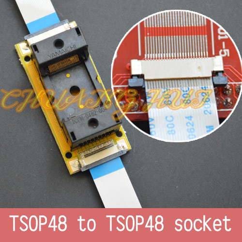 Купить с кэшбэком Program Test new TSOP48 On line test socket SMD welding TSOP48-TSOP48 ic socket Adapter Pitch=0.5mm
