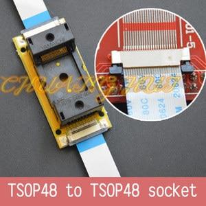 Image 2 - Programm Test neue TSOP48 Auf linie test buchse SMD schweißen TSOP48 TSOP48 ic sockel Adapter Pitch = 0,5mm
