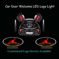 2x Araba Kapı Hoşgeldiniz Nezaket Lazer Projektör Puddle Dunk Spot Michael Jordan Logo Hayalet Gölge LED Işık (1033)