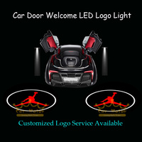 2x Car Door Welcome Courtesy Laser Projector Puddle Spotlight Michael Jordan Dunk Logo Ghost Shadow LED