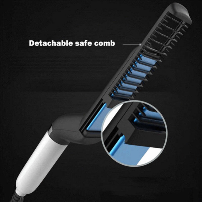 Symbol Of The Brand Hot New Professional Quick Hair Styler For Men Curling Iron Side Straighten Salon Hairdressing Comb Hy99 Oc15 High Safety Electric Hair Brushes Home Appliances