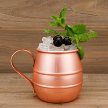 1 Piece 540ml Perfect Smooth Moscow Mule Mug Drum- Copper Plated Beer Cup Coffee Stainless Steel-Copper