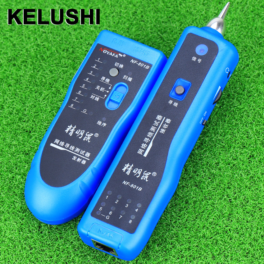 KELUSHI Network RJ11 RJ45 lan wire tracker Fault locator and cable tester LAN Cable Tester NF-801B