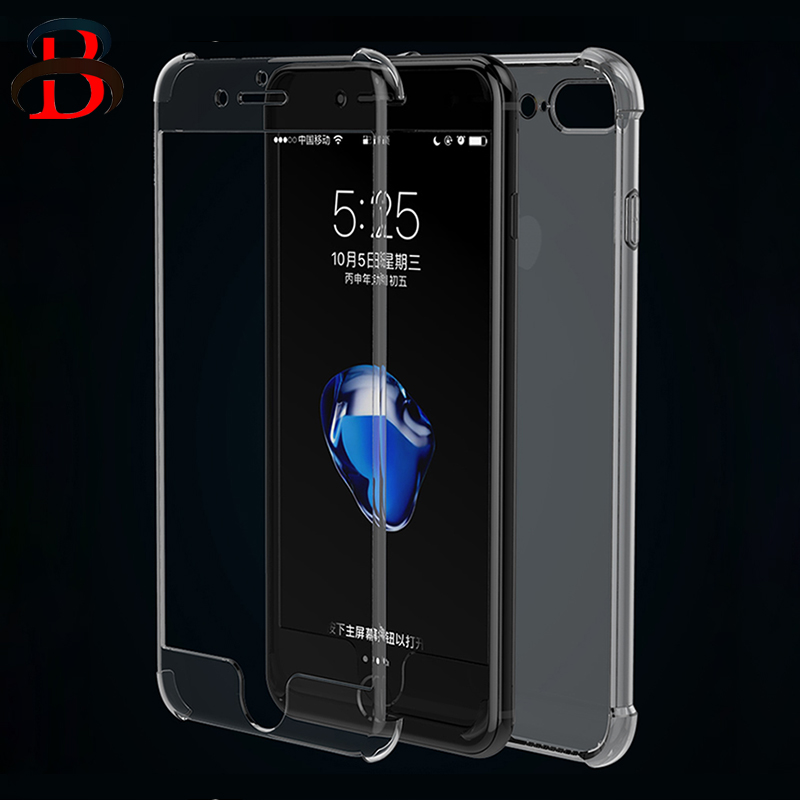 HD Clear TPU-fodral för iPhone 7 8 Plus för iPhone 8 7 Fodral 360 - Reservdelar och tillbehör för mobiltelefoner