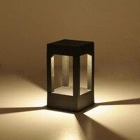 4 راي طريقة الحديثة LED في الهواء الطلق حديقة حديقة ضوء مصباح سياج بوابة ضوء في الهواء الطلق بقيادة المدخل الممشى مرور الحديقة مصباح ضوء