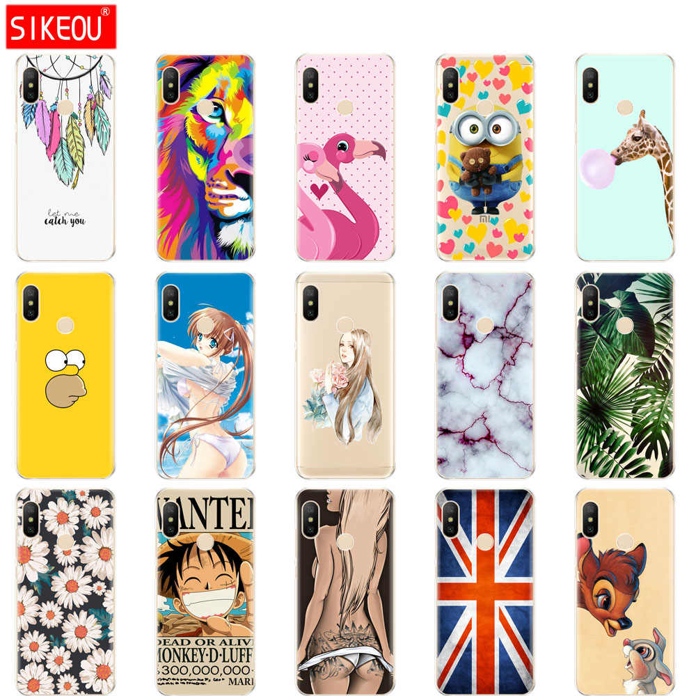 silicone case for Xiaomi MI A2 LITE Case Full Protection Soft tpu Back Cover Phone Cases For Xiomi MI A2 LITE bumper Coque