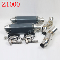 Z1000 Motorcycle Slip On Akrapovic Exhaust Muffler With Middle Link Pipe Moveable For Kawasaki Z1000 2010 11 12 13 14 15 16 2017