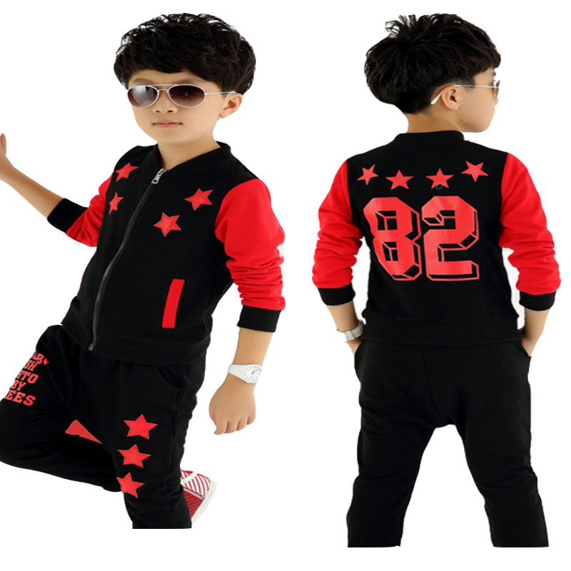 Boys Girls Clothes Autumn Teenage Suit for  Uniforms Sports Two Sets of Children's Clothing Roupas Infantis Menino 3 8 10 14 Age