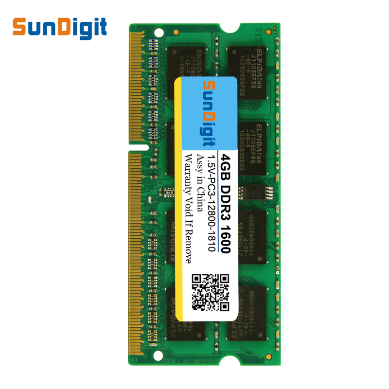 New SunDigit Laptop Memory <font><b>Ram</b></font> <font><b>DDR2</b></font> DDR3 667 800 1333 1600 Mhz 8GB <font><b>4GB</b></font> 2GB 1GB For Intel <font><b>Notebook</b></font> Sodimm Memoria DDR 2 3 <font><b>RAMS</b></font> image