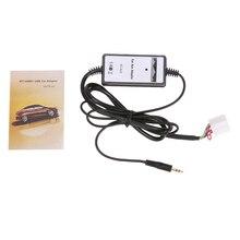 Автомобиль вспомогательный адаптер MP3 плеер Aux кабель Интерфейс Audio линию адаптер подходит для Honda Accord для Civic Odyssey ME3L
