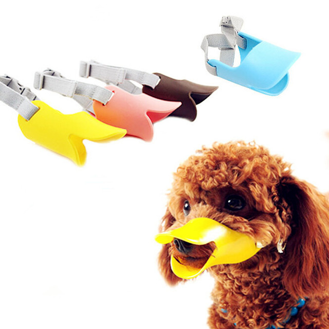 Regolabile Ornitorinco Pet Cane Museruola per Teddy Yokie Anti-mordere Barking D