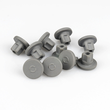 100pcs/lot 13mm 20mm Grey Color Buty Rubber Stopper Medical For Vials Sealing Injection Cap