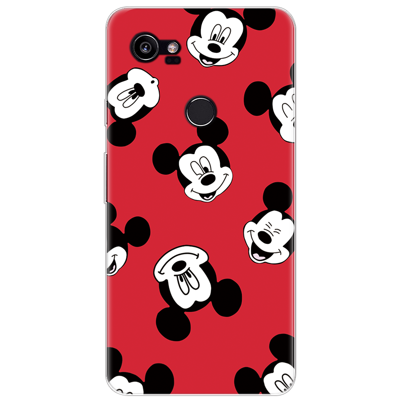 Cat King Queen Minnie Mickey For Google Pixel 2 XL Case Soft TPU Rubber For Google Pixel 2XL Case Clear Back Print Cover Coque