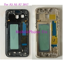 5 PCS Middle Frame Housing Bezel For Samsung Galaxy A3 A5 A7 2017 A320 A520 A720 Front Frame Chassis + Side Buttons