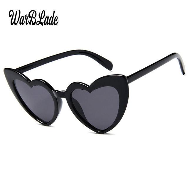 6fdcfd441f 2018 New Heart Sunglasses Women Cute Sunglasses Women Brand Designer  Vintage Colorful Cat Eye Sun Glasses