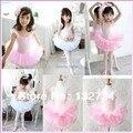 100% высокое качество и хлопок-лайкра платье принцессы / новая девушка ну вечеринку танцы купальник балетная пачка платье размер от 4 до 12 лет BT-0012