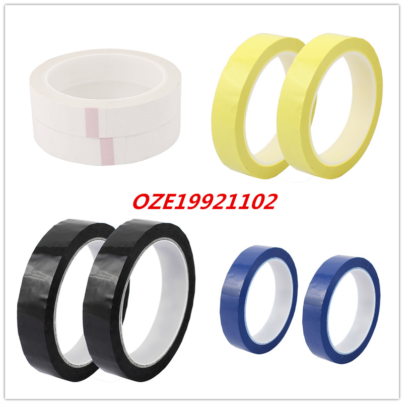 2pcs 20mm Single Sided Strong Self Adhesive Mylar Tape 50M Length Retardant 2pcs 2 5x 1cm single sided self adhesive shockproof sponge foam tape 2m length