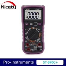 цена на Nicety ST890C+ True RMS 6000 counts DMM  multimeter 10A 1000V Manual Range Capacitance Temperature Digital Multimeter NCV