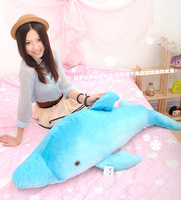 blue soft lovely plush dolphin toy stuffed dolphin pillow large birthday gift toy about 120cm