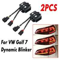 2Pcs L/R Dynamic Blinker Taillights Turn Signal LED Rear Indicator Light Module Cable Wire For VW Golf 7 2012 2018