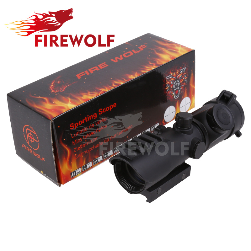 FIRE WOLF Tactical 4X32LER Red Dot Sniper Scope Airsoft Sight Riflescope Night Vision Rifle Scope for Hunting Shooting trijicon mro airsoft holographic red dot sight shotgun scope hunting riflescope illuminated sniper gear for tactical rifle scope