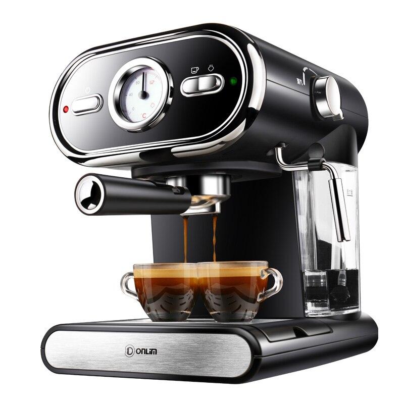 Italiano Macchina del Caffè DL-KF5002 Semi-Automatico Casa Visualizzazione di Controllo della Temperatura Completo 20BAR