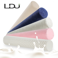 RULDGEE Candy Shape Natural Latex Pillow Sleeping Bedding Cervical Massage Pillow Health Neck Bonded Head Care Memory Pillow