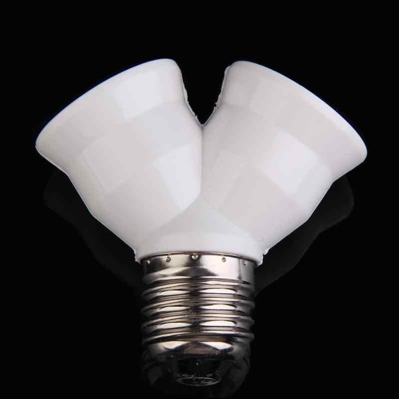 Creative E27 Extend Base Light Lamp Bulb Lamp Holder Bulb Holder Dual Double Halogen Light Lamp Copper Contact Adapter Converter