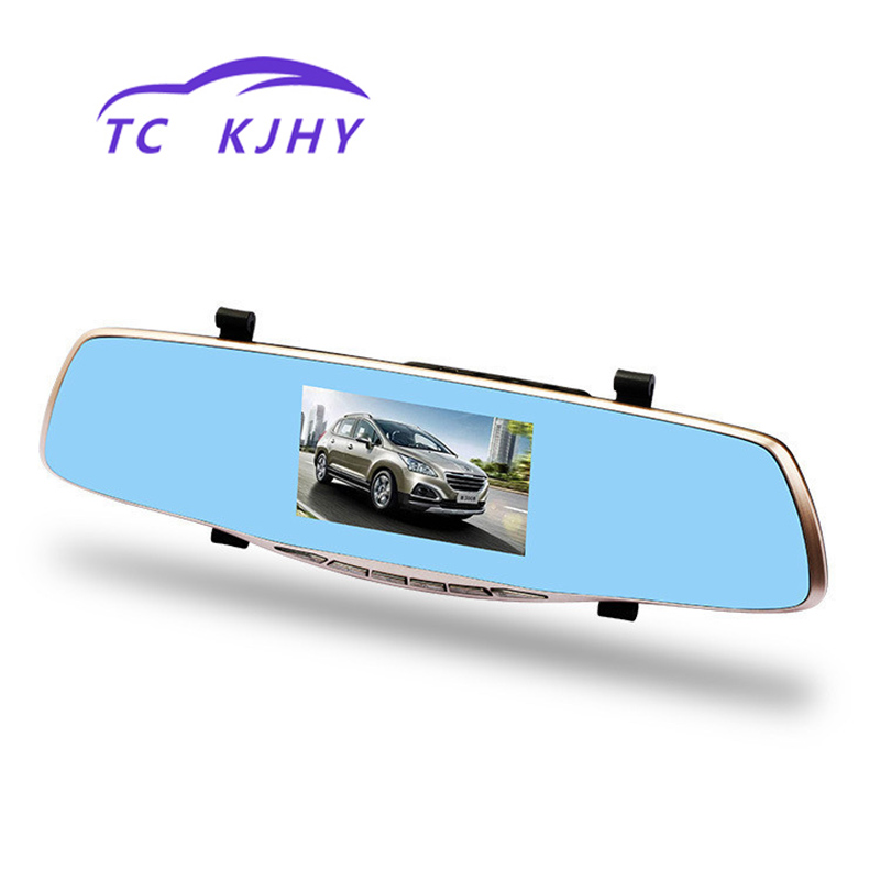 Auto High Definition Front and Rear Dual Lens 5 Inch Screen Dash Cam Car Dvr Data Recorder 12 Million Pixel Recorder Diaplay