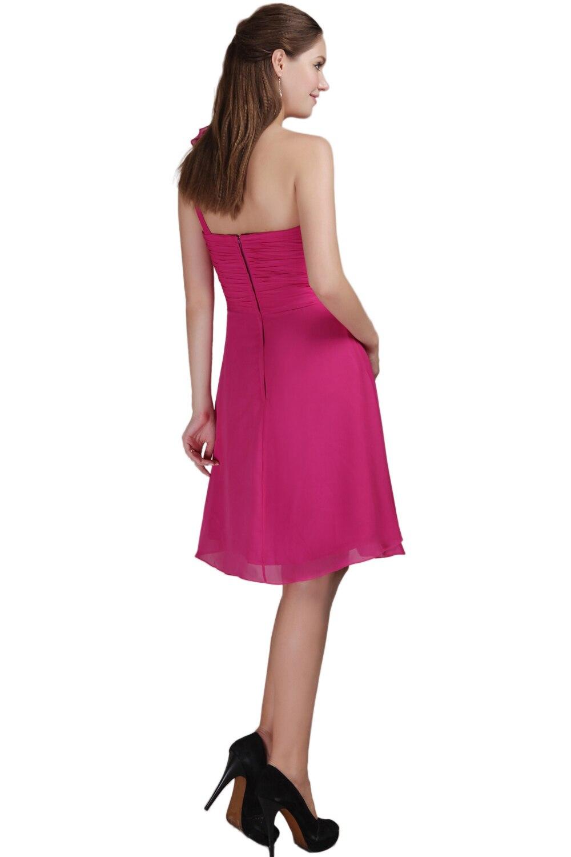 Hermosa Vestido De La Dama De Honor Larga Púrpura Ornamento ...