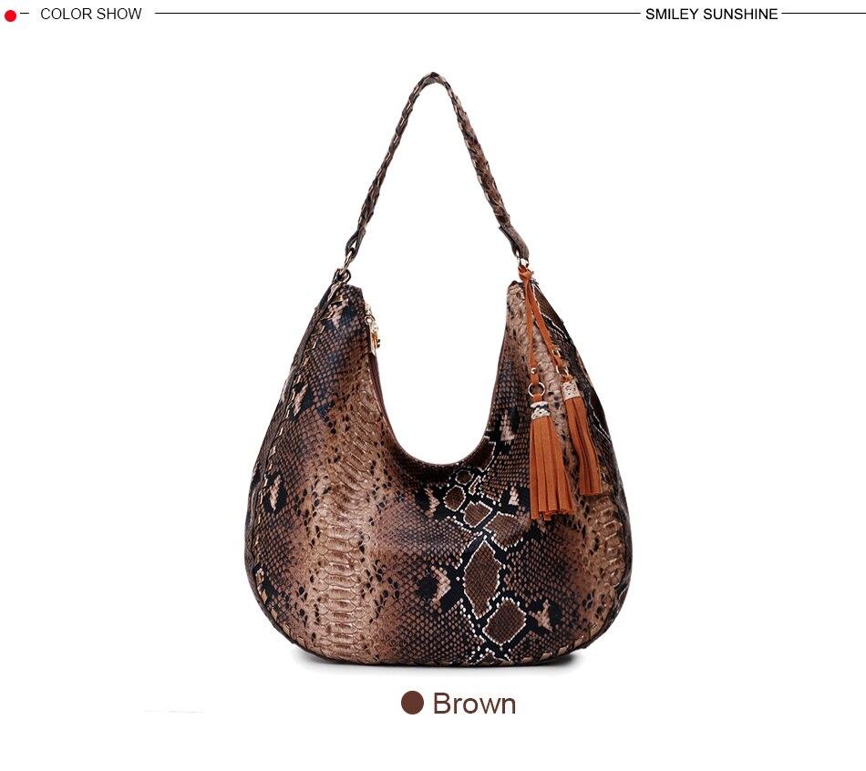 Ybriefbag Handbag Ladies Handbag Leather Handbag Smiley Bag Shoulder Bag Luggage Ladies Color : Brown, Size : M