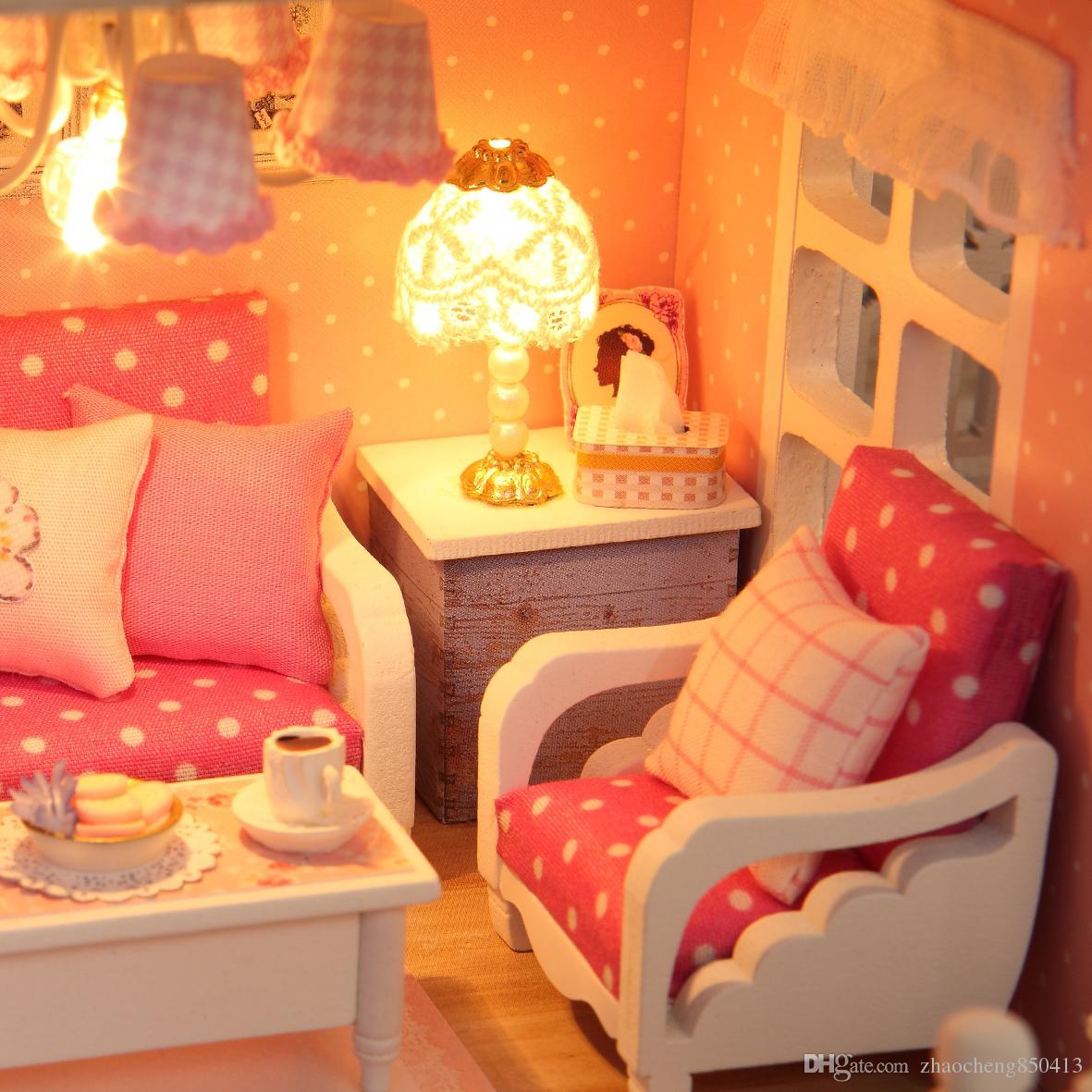 Сыйлықтар Жаңа бренд DIY Doll үйлері Wooden - Қуыршақтар мен керек-жарақтар - фото 6