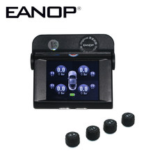 EANOP Solar TPMS TFT SCREEN With 4 Sensors PSI/BAR Tire Pressure Monitor Real time Temperature Monitoring Alarm System(China)