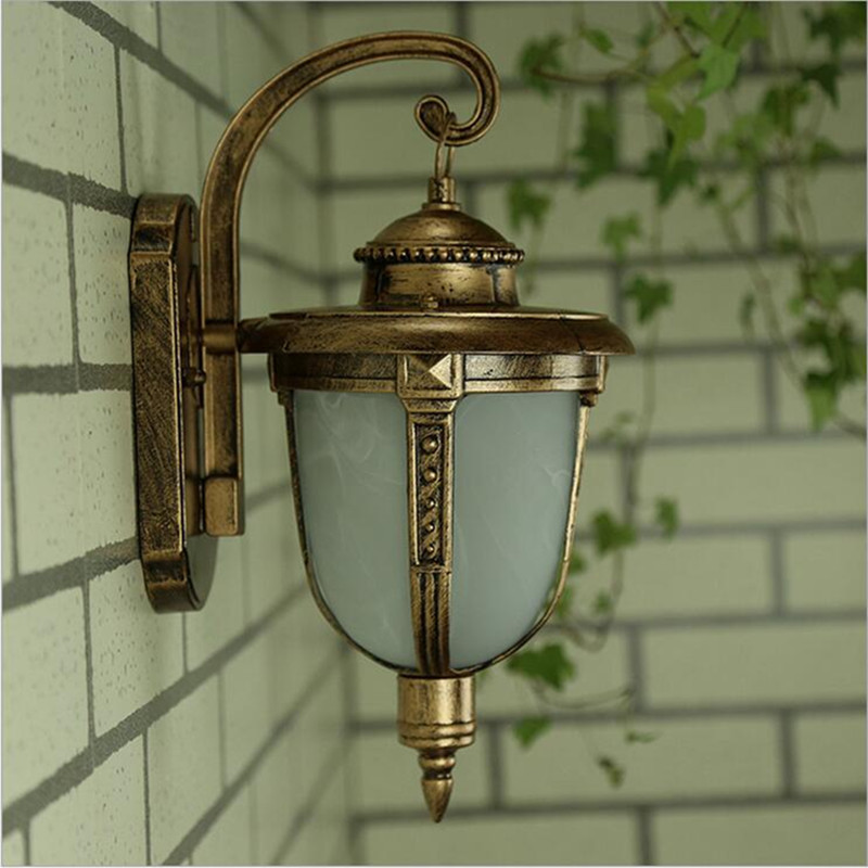 Retro European waterproof outdoor Wall lamps E27 lamp garden terrace light decoration lights outdoor lighting