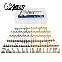 XCAN 138pcs Set Stainless Steel Brush Brass Brush For Polishing Grinding Kit