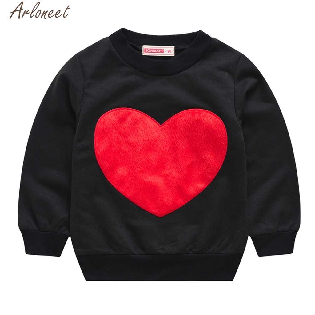 ARLONEET Toddler Kids Baby Girls Boys Hoody Tops Loving Heart girls hoodies cute baby girl sweatshirts boys hoodie